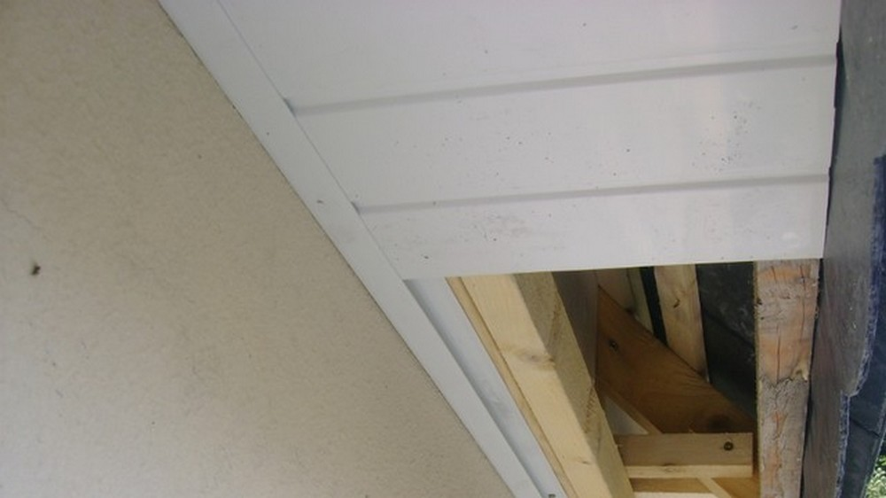 Habillage de sous toiture en pvc